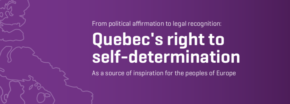 From political affirmation to legal recognition: Quebec's right to self-determination